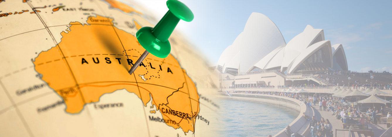 تصویر بنر نقشه استرالیا