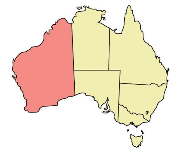 نقشه استرالیای غربی