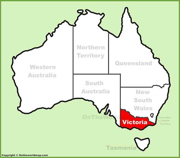 نقشه ویکتوریا استرالیا
